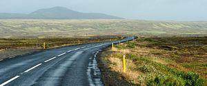 Empty road van
