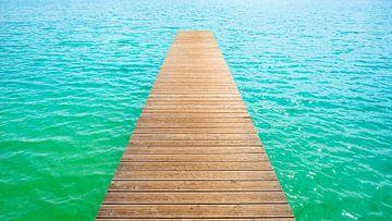 steiger aan het zwemmeer van Günter Albers