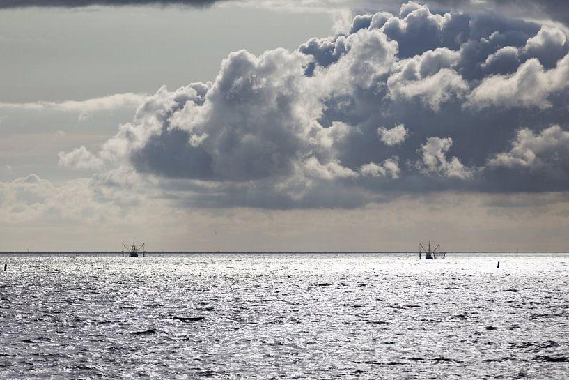 Vissersboten Waddenzee van Miranda van Hulst