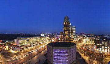 Breitscheidplatz de Berlin et l'église commémorative du Kaiser Wilhelm sur Frank Herrmann