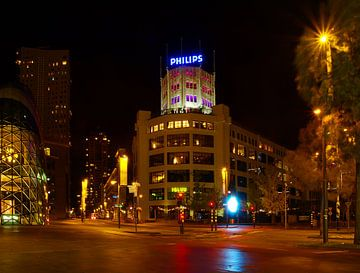 Eindhoven centrum by night van tiny brok