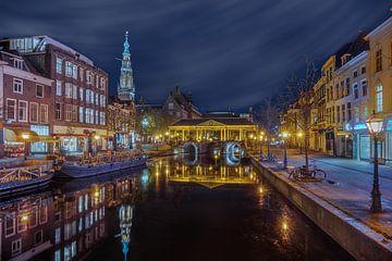 Leiden - uitzicht op de Nieuwe Reijn van Ardi Mulder