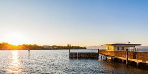 Langenargen au lac de Constance au lever du soleil