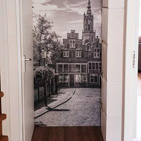 Photo de nos clients: Havik en Bloemendalse Binnenpoort historisch Amersfoort zwartwit sur Watze D. de Haan