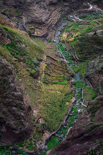 Mountain valley in Africa van