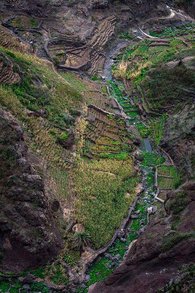 Mountain valley in Africa van Robert Beekelaar
