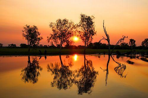 Zonsondergang in Kakadu National Park