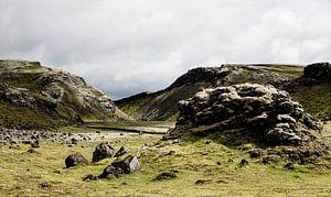 Groene rotsen