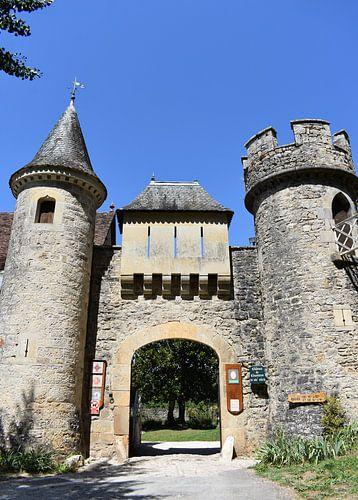 Kasteel uit de middeleeuwen in Frankrijk sur