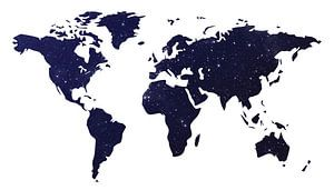 Galaxy Wereld Kaart Donker
