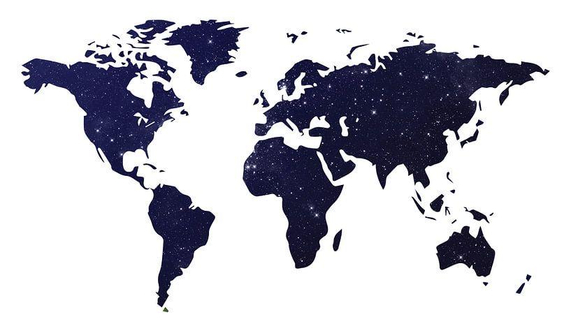 Carte du monde Galaxy Foncé sur World Maps