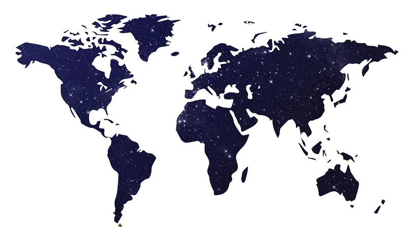 Galaxy Wereld Kaart Donker van World Maps