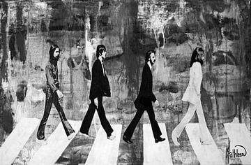 Die Beatles Schwarz & Weiß von Kathleen Artist Fine Art