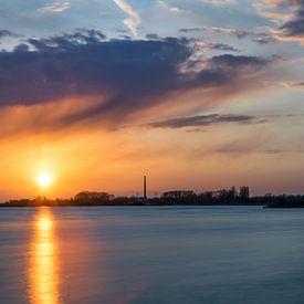 coucher coucher de soleil sur le wa du coucher de soleil sur Patrick Verhoef