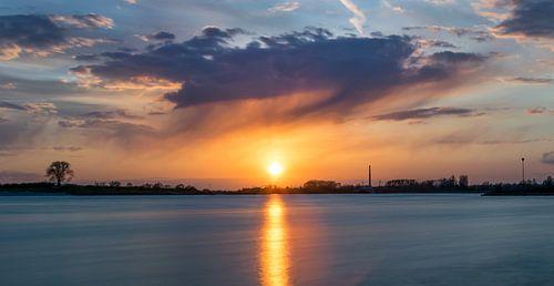 coucher coucher de soleil sur le wa du coucher de soleil