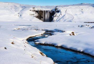 Waterval IJsland van Mario Calma