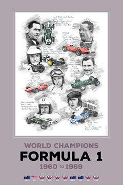 Formule 1-wereldkampioen van 1960 tot 1969 van Theodor Decker