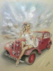 Girl und Oldtimer - Vintage