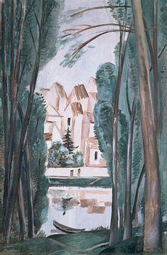 Landschaft mit einem Boot an der Bank, André Derain.