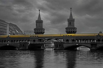 Oberbaumbrücke Berlijn van Heiko Lehmann