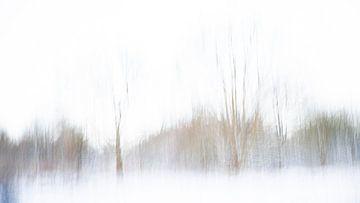 Een abstract landschap in de sneeuw - 1 van Danny Budts