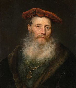 Der bärtige Mann mit der Samtmütze, Gouverneur Flinck