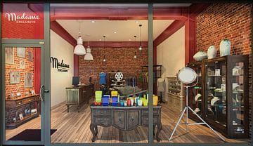 Vitrine - winkel - doorkijk  van Erik Bertels