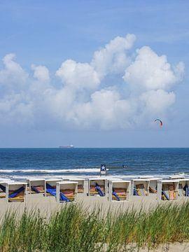 Strand cabines Katwijk sur