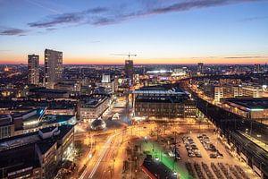 De skyline van Eindhoven van