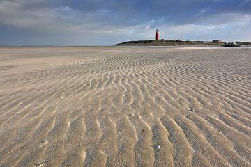 Zand structuur Vuurtoren Texel van