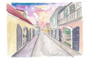Charlotte Amalie Strassenszene St Thomas US Virgin Islands von Markus Bleichner