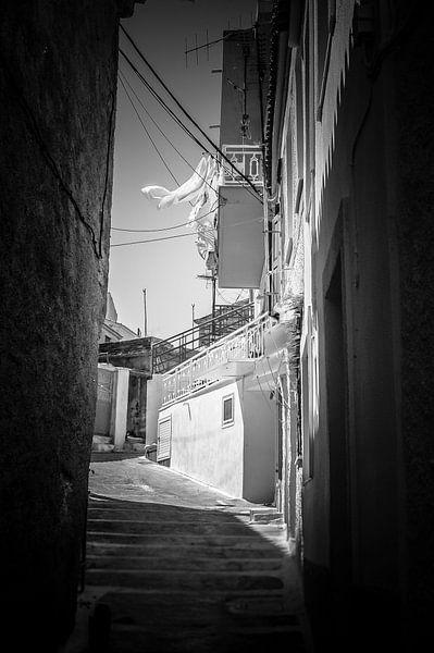 Doorkijk in oud Grieks straatje