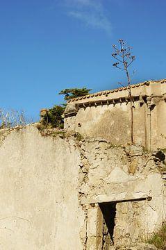 Verlaten boerderij op Sicilië van Jadzia Klimkiewicz