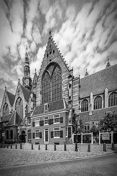 AMSTERDAM, Oude Kerk | zwart-wit van