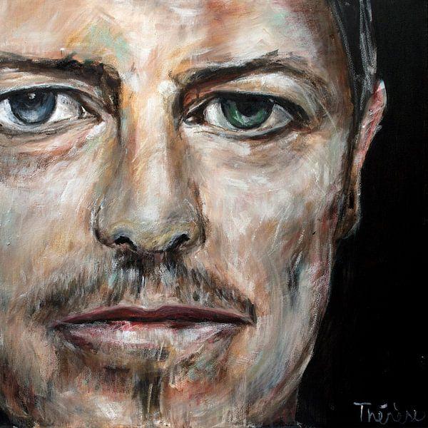Portret van David Bowie, David Robert Jones van Therese Brals