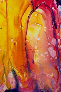Acryl Pouring Detail van