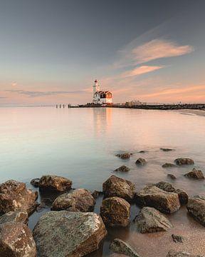 sunset Lighthouse van Sonny Vermeer