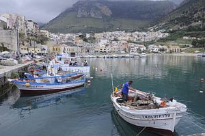 Vissershaven Castellammare del golfo.
