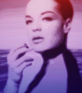 Romy Schneider Sunset Wave Pop Art