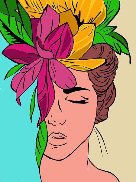 Flower sleep. von YOPIE illustraties