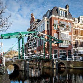 Kerkbrug aan de Oude Rijn van René Rollema