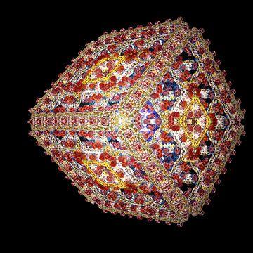 Abstracte lichtgevende kubus