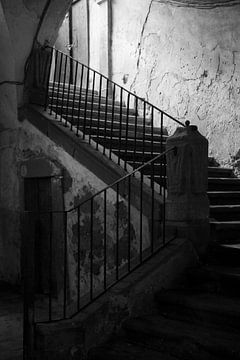 Siciliaanse trap in zwart wit van Helene de Jongh