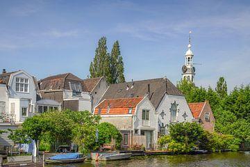 Zicht op de Zijlpoort in Leiden van Dirk van Egmond