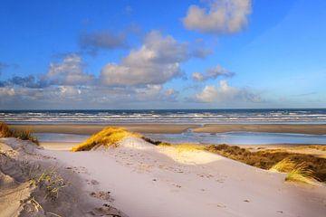 Traversée de la plage de Terschelling.