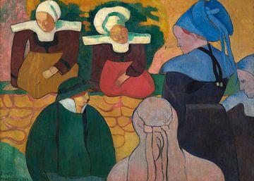Émile Bernard~Bretonische Frauen an einer Mauer