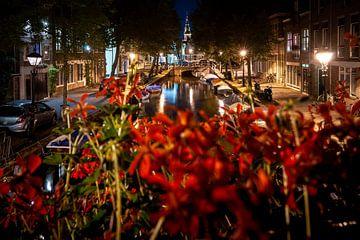 Vue sur les anciens canaux et le centre-ville d'Alkmaar sur Fotografiecor .nl