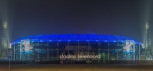 Feyenoord Rotterdam stadium 'De Kuip' at Night - part eight