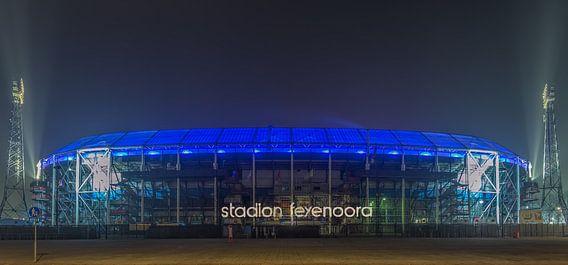 Feyenoord Rotterdam stadium 'De Kuip' at Night - part eight van Tux Photography