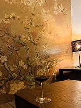 Kundenfoto: Mandelblüte ALMOND BLOSSOM ocker - Vincent van Gogh, auf nahtloser fototapete
